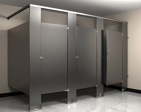 Flushite stainless steel bathroom partition flush metal for Stainless steel bathroom partitions